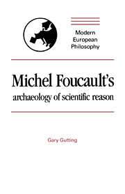 Michel Foucault's Archaeology of Scientific Reason