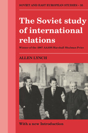 The Soviet Study of International Relations