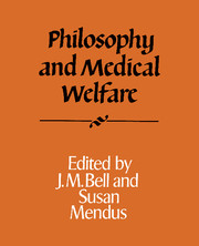 Philosophy and Medical Welfare