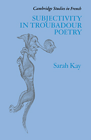Subjectivity in Troubadour Poetry