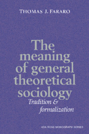 Contemporary urban sociology social theory cambridge university the meaning of general theoretical sociology fandeluxe Gallery