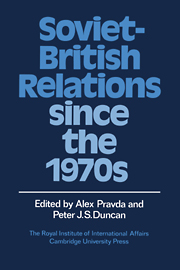 Soviet-British Relations since the 1970s