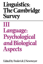 Linguistics: The Cambridge Survey