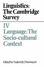 Linguistics: The Cambridge Survey