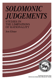 Solomonic Judgements
