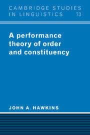 A Performance Theory of Order and Constituency