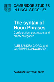 The Syntax of Noun Phrases