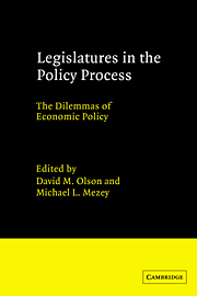 Legislatures in the Policy Process