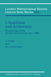 L-Functions and Arithmetic