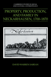 Property, Production, and Family in Neckarhausen, 1700–1870