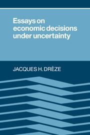 Essays on Economic Decisions under Uncertainty