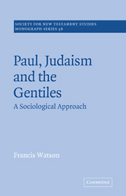 Paul, Judaism, and the Gentiles