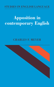 Apposition in Contemporary English