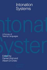 Intonation systems survey twenty languages phonetics and phonology a survey of twenty languages fandeluxe Images