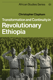 Transformation and Continuity in Revolutionary Ethiopia