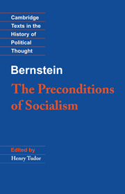 Bernstein: The Preconditions of Socialism