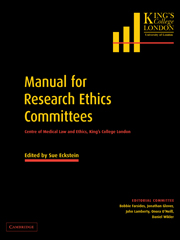 Manual for Research Ethics Committees