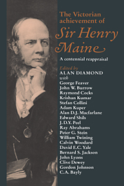The Victorian Achievement of Sir Henry Maine