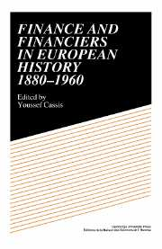 Finance and Financiers in European History 1880–1960