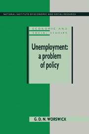 Unemployment: A Problem of Policy