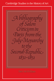 A Bibliography of Salon Criticism in Paris from the July Monarchy to the Second Republic, 1831–1851