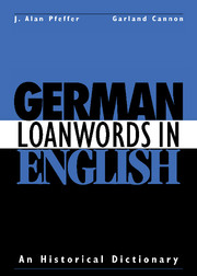 German Loanwords in English