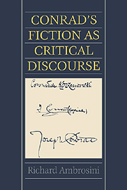 Conrad's Fiction as Critical Discourse