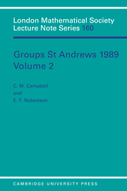 Groups St Andrews 1989