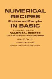 Numerical Recipes Routines and Examples in BASIC (First Edition)
