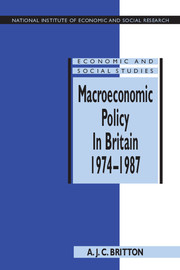 Macroeconomic Policy in Britain 1974–1987