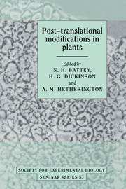 Post-translational Modifications in Plants