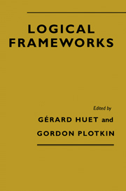 Logical Frameworks
