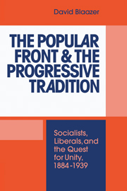 The Popular Front and the Progressive Tradition