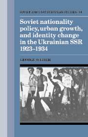 Soviet Nationality Policy, Urban Growth, and Identity Change in the Ukrainian SSR 1923–1934
