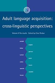 Adult Language Acquisition