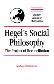 Hegel's Social Philosophy