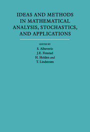 Ideas and Methods in Mathematical Analysis, Stochastics, and Applications