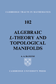Algebraic L-theory and Topological Manifolds