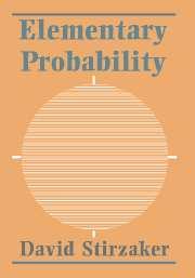 David stirzaker elementary probability