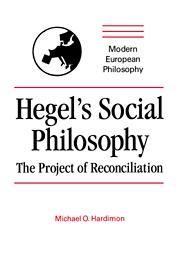 Hegel's Social Philosophy