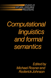 Computational Linguistics and Formal Semantics