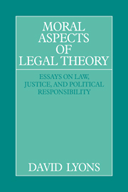 Moral Aspects of Legal Theory
