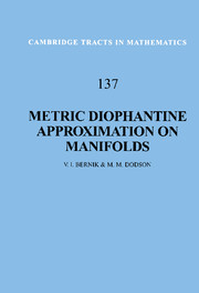 Metric Diophantine Approximation on Manifolds