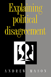 Explaining Political Disagreement