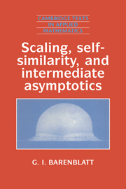 Scaling, Self-similarity, and Intermediate Asymptotics