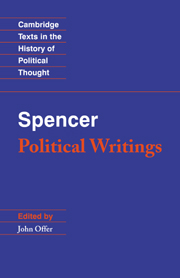 Spencer: Political Writings