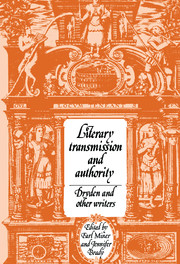 Literary Transmission and Authority