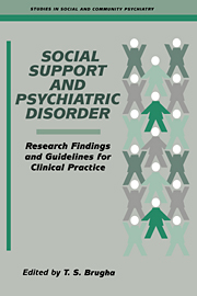 Social Support and Psychiatric Disorder