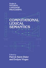 Computational Lexical Semantics