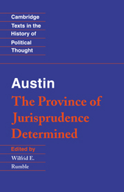 Austin: The Province of Jurisprudence Determined